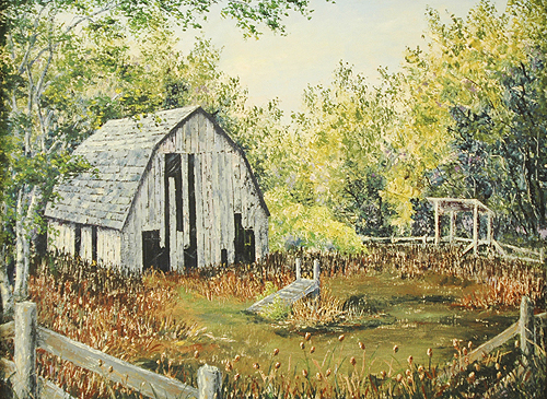 Old Barn (Palette Knife)